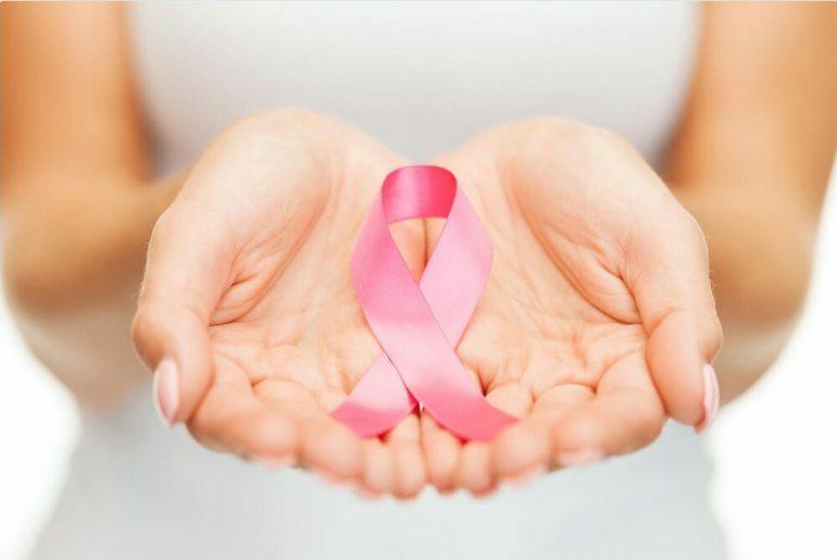 Laço rosa simbolo de combate ao cancêr.