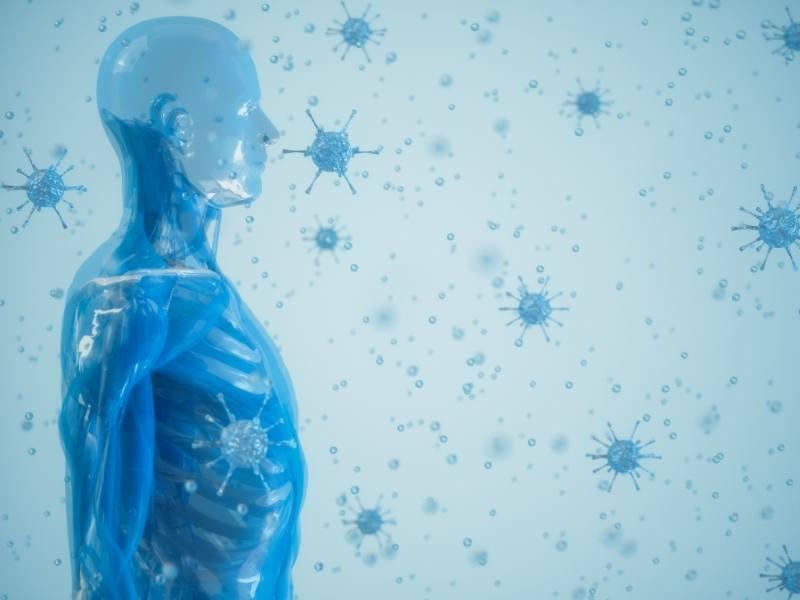 Ilustração do Sistema Imunológico humano.