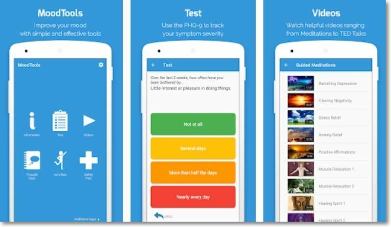 Prints telas do App MoodTools.
