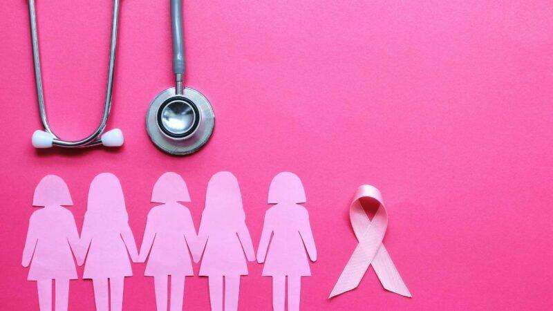 Ilustração de campanha do outubro rosa.